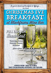 Blackfriars Wine Bar Christmas Menu 2015