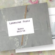 Catalogue & flyer printing for artist Lorraine Fossi