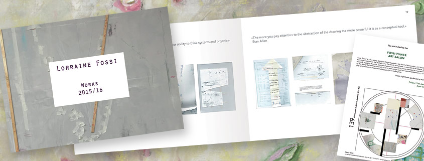 Catalogue & Flyer printing for Lorraine Fossi, artist.