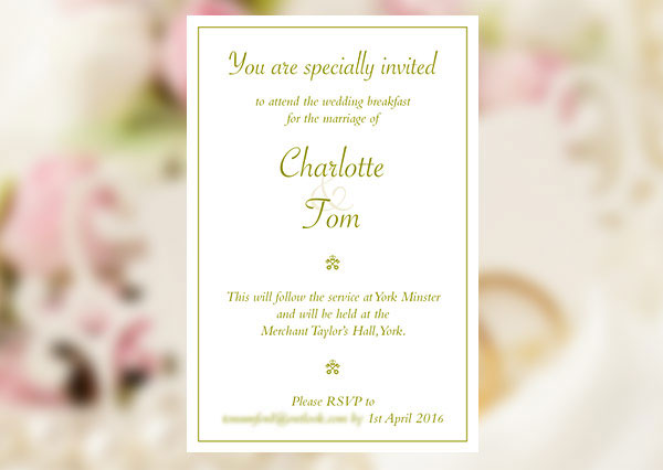 A simple but effective wedding invitation