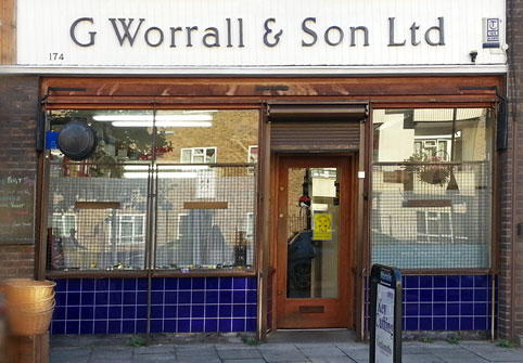 G Worrall & Son shop, London SE1