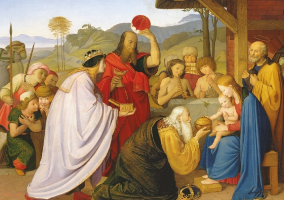 'The Adoration of the Kings' Christmas card