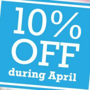 10 percent off printing in April
