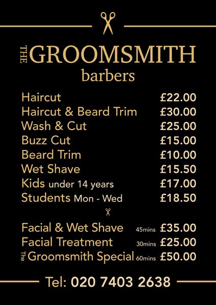Groomsmith Barbers' poster