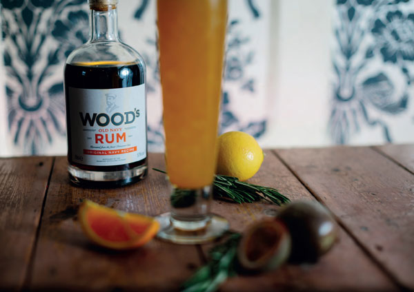 Printed poster for Wood's Old Navy Rum