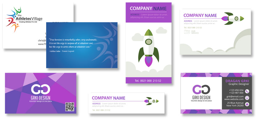 Examples of well designed business cards