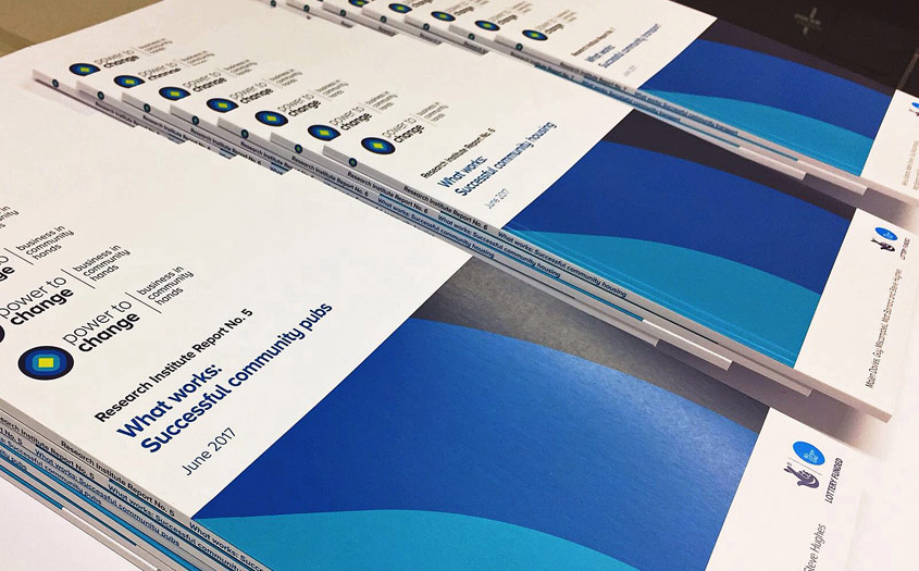Perfect binding & printing for Power to Change in London SE1