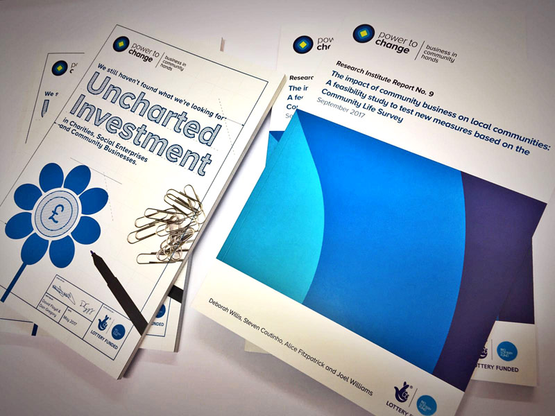 Perfect bound booklets and reports for SE1 charitable trust, Power to Change
