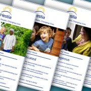 Digitally printed posters for Hestia