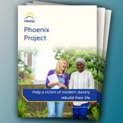 Printed Phoenix Project leaflets for Hestia