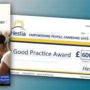 Large format cheque & digitally printed pamphlet for Hestia
