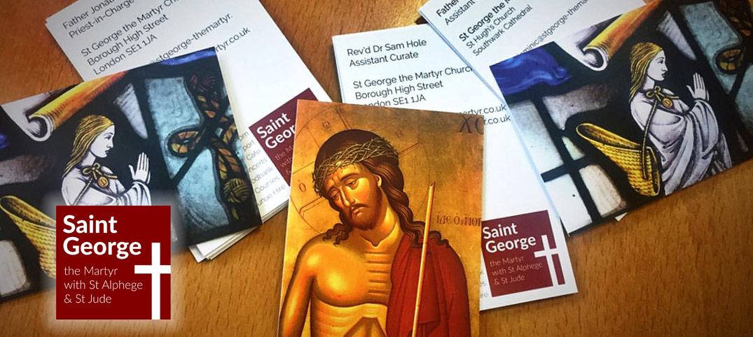 Digital printing for St George The Martyr, Borough High Street, London SE1