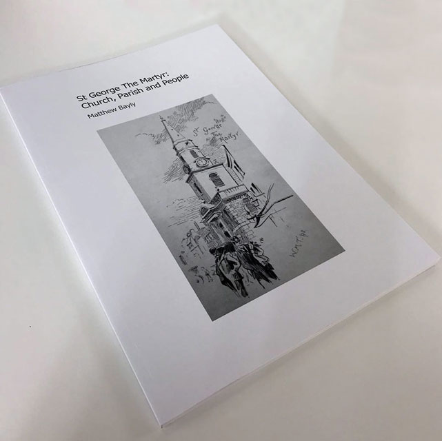 Perfect bound book for St George The Martyr, Borough