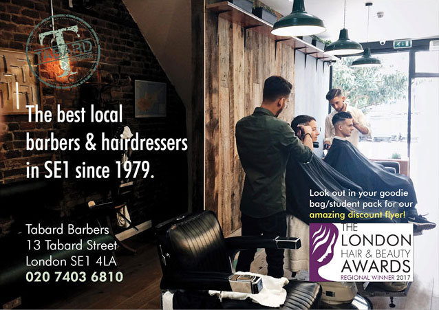 A1 poster printed for Tabard Barbers, London SE1