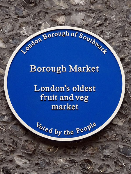 Borough market - blue plaque