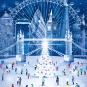London themed Christmas cards