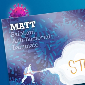 Matt antimicrobial lamination