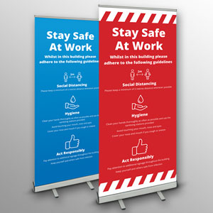 'Stay Safe At Work' roller banners