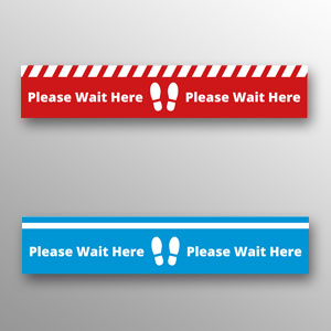 'Please wait here' floor vinyls