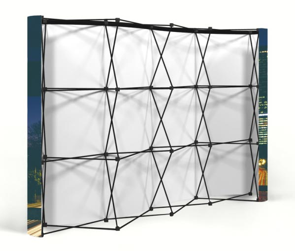 Our pop-up displays are quick and easy to assemble without the need for tools