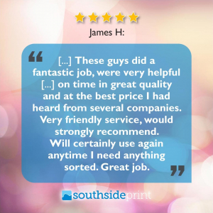 5 Star Google review by James H.