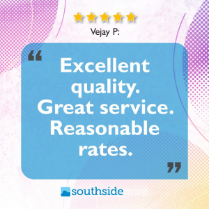 5 Star Google review by Vejay P.