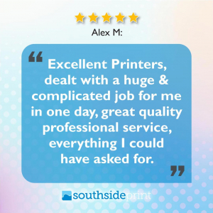 5 Star Google review by Alex M.